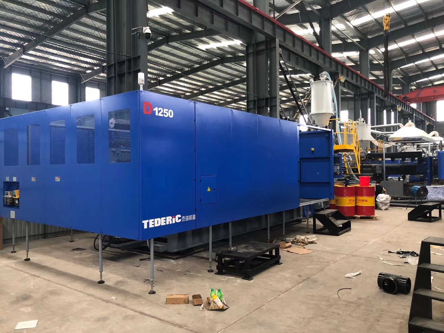 PE pipe injection molding machines arrived at Tengyuan Group's pipe fitting production