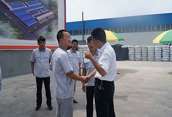 Xuewei Geng Led a Team of More Than 100 People to Shandong Tengyuan Building Materials Technology CO., LTD For Visiting.