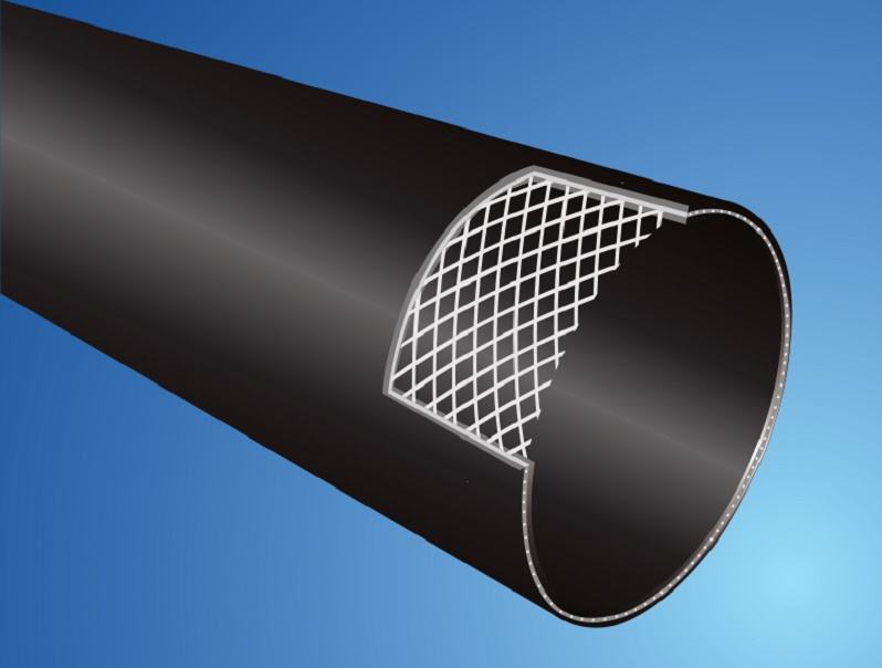 Steel wire reinforced thermoplastics(PE) composite pipe